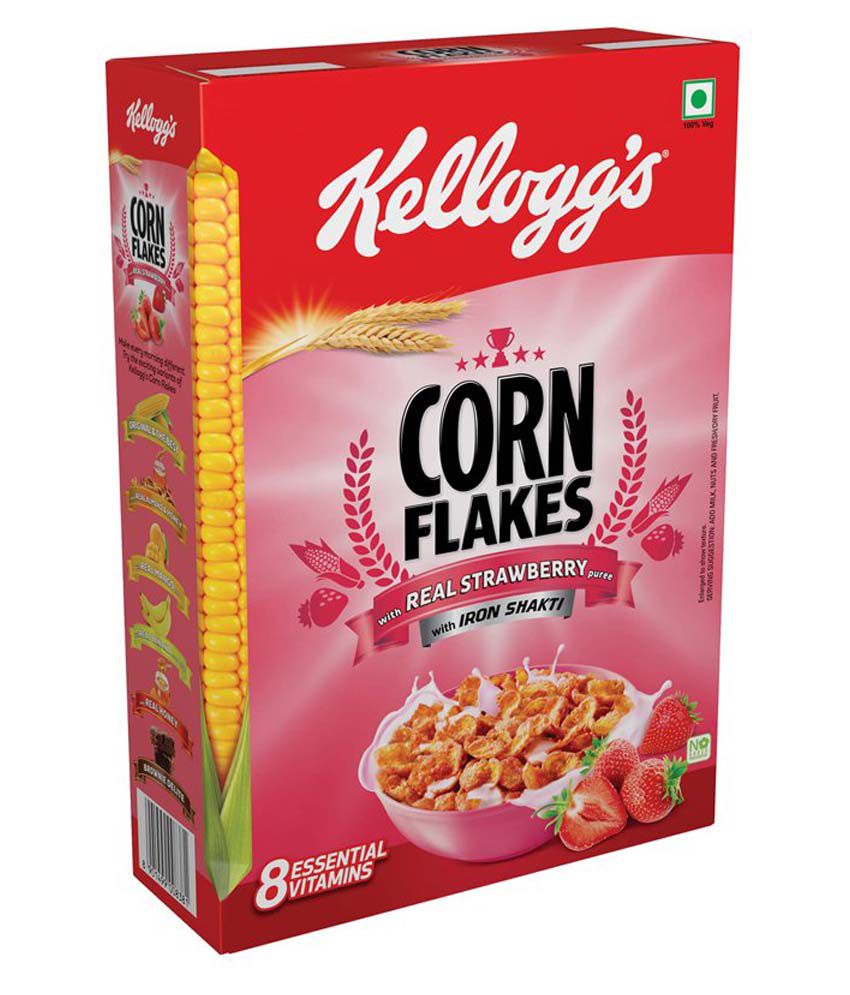 CORN FLAKES WITH REAL STRAWBERRY PUREE