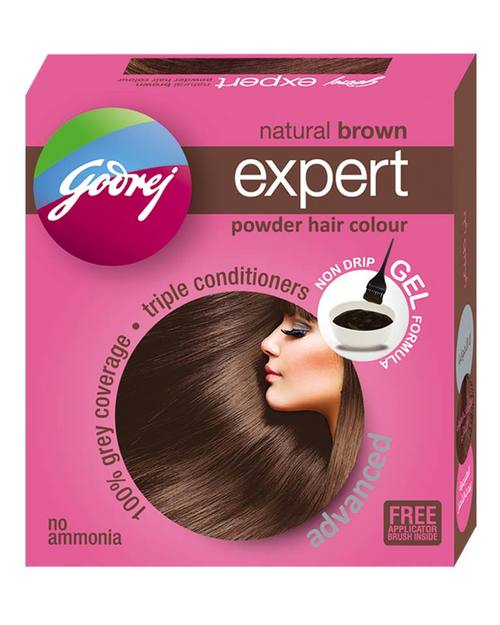 NATURAL BROWN EXPERT POWDER HAIR COLOUR