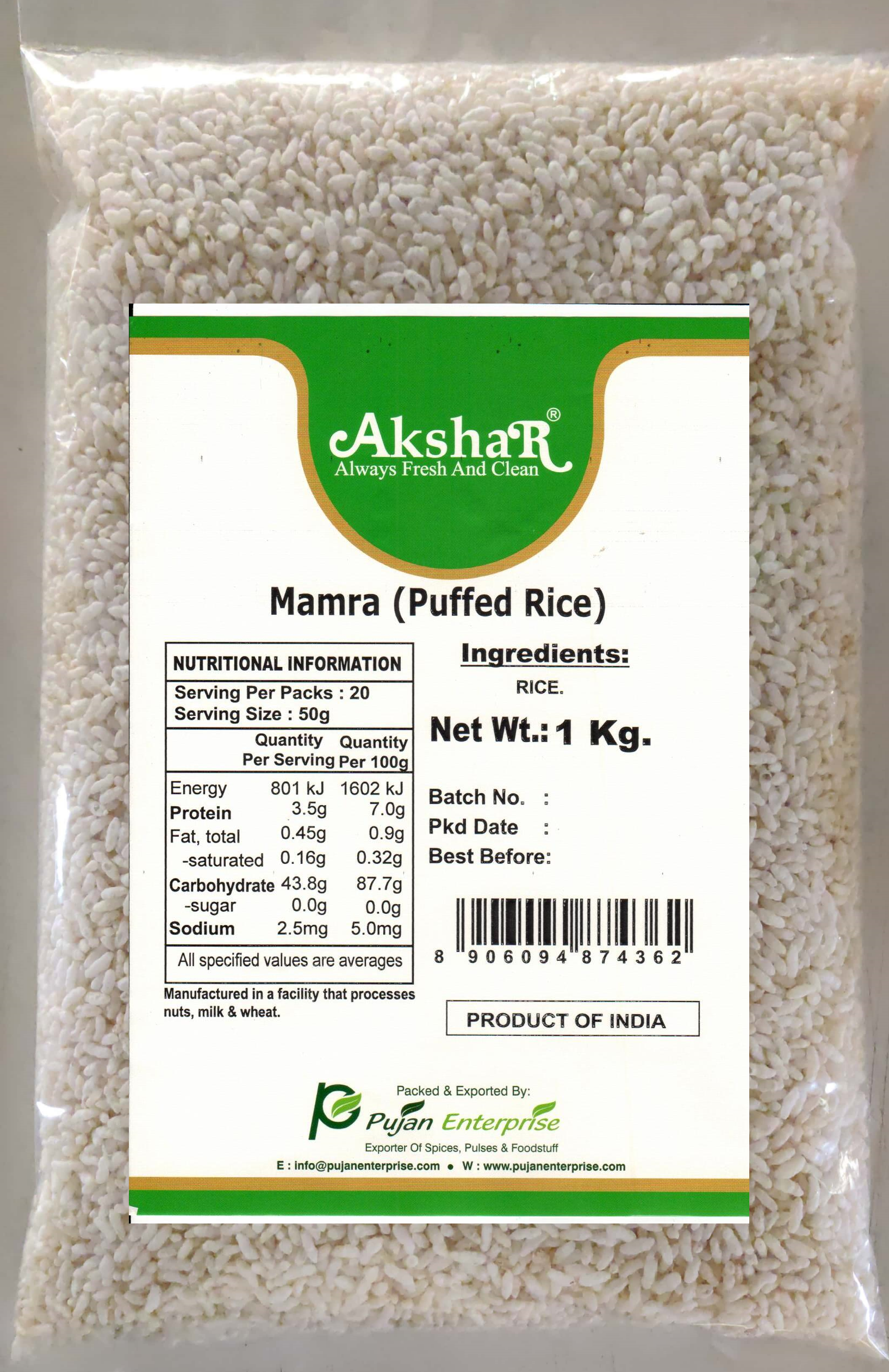 PUFFED RICE (KURMURA)
